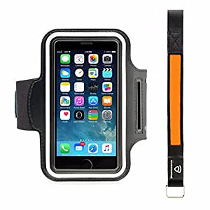 Accelerate Armband + BONUS: Accelerate LED Safety Bracelet - Enjoy Extreme Exercise, Sports, Outdoor Adventures - Full Carryall for Smartphones, Cards, Keys and More, Fits iPhone 6 and other Devices