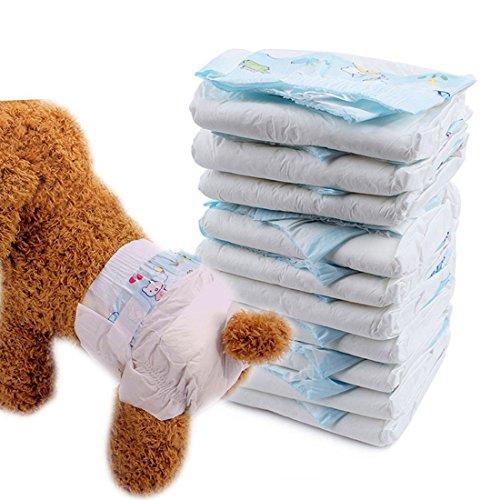 Freahap Haustier Hundewindeln Hündin Windeln Einmalige Superabsorbierende S