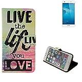 Pour Smartphone Huawei Honor 5C Case 360° Cover 'live the life you love' Fonction Stand Wallet BookStyle Housse Protection Sac Étui Couvervle pour Huawei Honor 5C meilleur prix, la meilleure performance - K-S-Trade(TM)