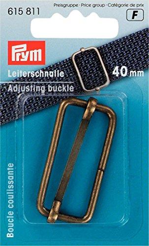 Prym Anpassungsschnalle, Metall, Antikes Messing, 40mm