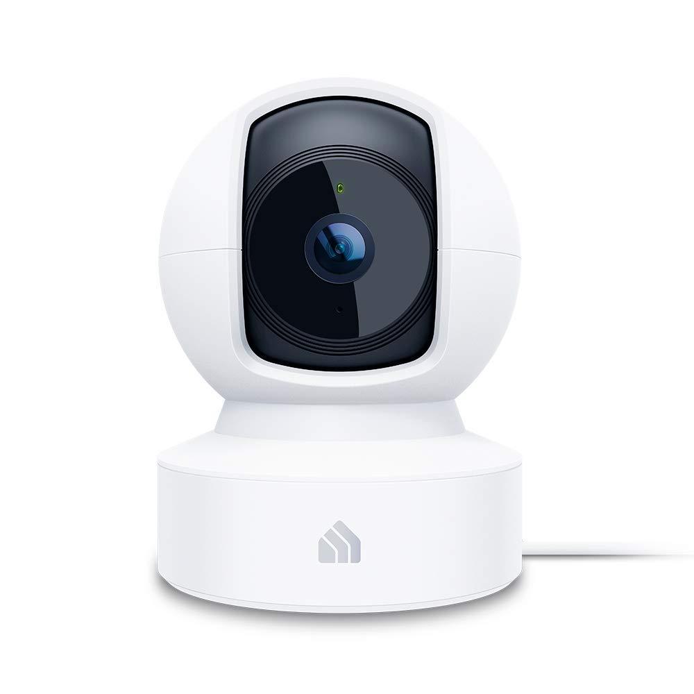TP-Link KC110 – Cámara Vigilancia, Cámara IP WiFi 1080p Full HD 130° Gran Angular, Zonas de Detección de Movimiento Ajustables, Visión Nocturna, Audio de 2 Vias y Nube, 360° Vistas rotacionales