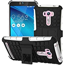 Voguecase® Para Asus Zenfone Selfie ZD551KL, Funda Carcasa Duro Tapa Case Cover con soporte (blanco) + Gratis aguja de la pantalla stylus universales