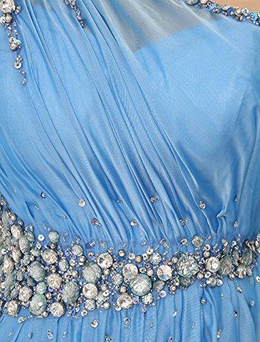 Find Dress Robe de Bal Longue Princesse Epaule Asymétrique Robe de Cérémonie Femme pour Mariage Style Elégant Anniversaire Gala Gown Taille Personnaliser en Mousseline avec Appliques Vert Menthe