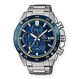 CASIO Herren Chronograph Solar Uhr mit Edelstahl Armband EFS-S500DB-2AVUEF