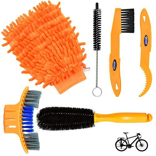 SANTOO 6 STK Fahrrad Reinigungsbürste Bike Kettenblatt Kurbel Reifen Ketten Radfahren Ecke Fleck Fahrradreinigungs Kits Für Alle Fahrräder