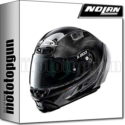 MOTOTOPGUN X-LITE BY NOLAN MOTORRAD INTEGRALHELM X-803 ULTRA CARBON RS HOT LAP 015 SZ. M