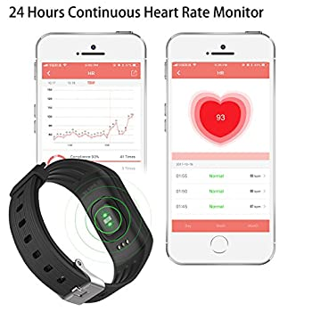 Funbot Fitness Tracker, Activity Tracker Heart Rate Monitor Smart Bracelet Ip67 Waterproof Fitness Watch Sleep Monitor Pedometer Calorie Counter With Replacement Band For Android & Ios 1