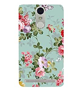FUSON Classic Floral Decoration Isolated 3D Hard Polycarbonate Designer Back Case Cover for Lenovo K5 Note :: Lenovo Vibe K5 Note Pro