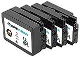 4 XL Premium Druckerpatronen ersetzen Original HP 950 XL & 951 XL, C2P43AE Multipack, MADE IN GERMANY, passend für HP OfficeJet Pro 251 dw, 276 dw, 8100 ePrinter, 8600, 8600 Plus, 8600 Premium, 8610, 8615, 8616, 8620, 8625, 8630, 8640, 8660