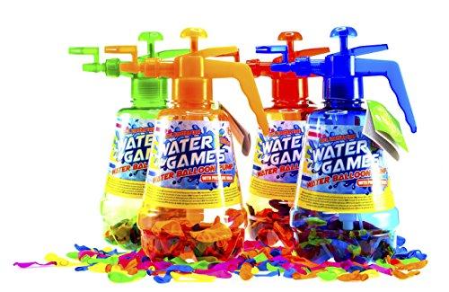 [SHS] 100 Wasserbomben INKL. Pumpe + KNOTENHILFE / ideal für unterwegs / WASSERBALLONS / Wasser Bomben / Wasserbombenpumpe