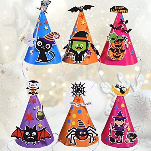 Toyandona - set di 8 cappelli di carta a tema halloween, ornamenti creativi fai da te per feste e halloween