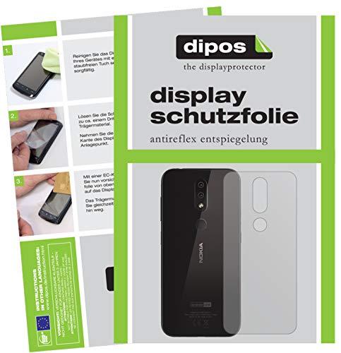 dipos I 2X Pellicola Protettiva antiriflesso per Nokia 4.2 Posteriore Pellicola di Protezione