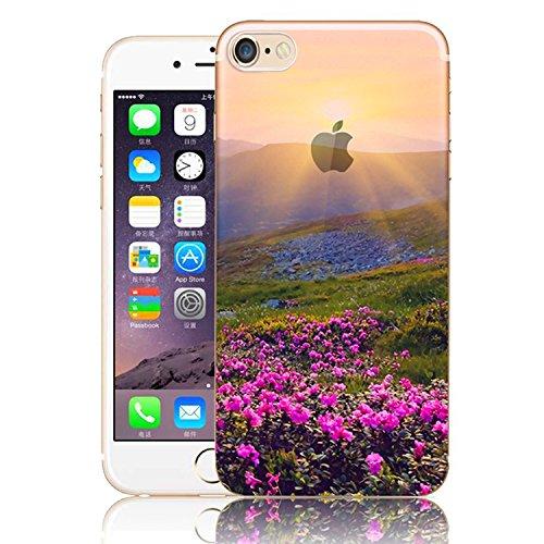 Vandot 3 X Coque pour iPhone 7 Plus Beau Motif de Dentelle Blanche Etui Souple TPU Silicone Case Doux Transparent Couverture Ultra-mince Ultraléger Coquille pour iPhone 7 Plus(5.5 Pouces) Anti-choc An Motif-01