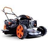 FUXTEC Benzin Rasenmäher FX-RM1850 mit 46 cm GT Selbstantrieb Motor Easy Clean 4in1 Motormäher Mulchen ETM Test GUT Preis/Leistungssieger im Test