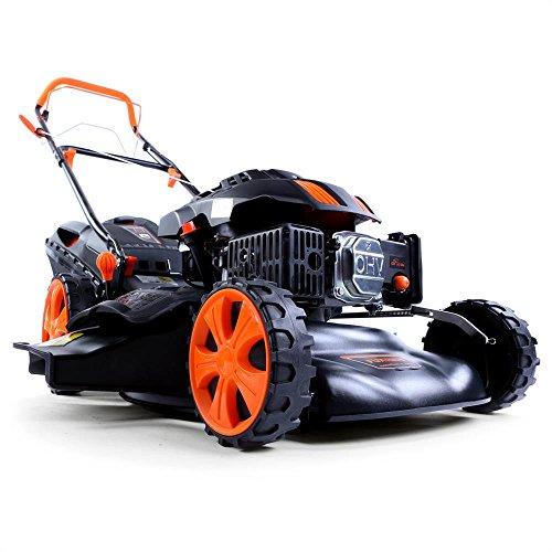 floristikvergleich.de FUXTEC Benzin Rasenmäher FX-RM1850 mit 46 cm GT Selbstantrieb Motor Easy Clean 4in1 Motormäher Mulchen ETM Test GUT Preis/Leistungssieger im Test