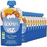 Good Goûter Coco Mangue Passion Bio, 10 Gourdes de 120 g