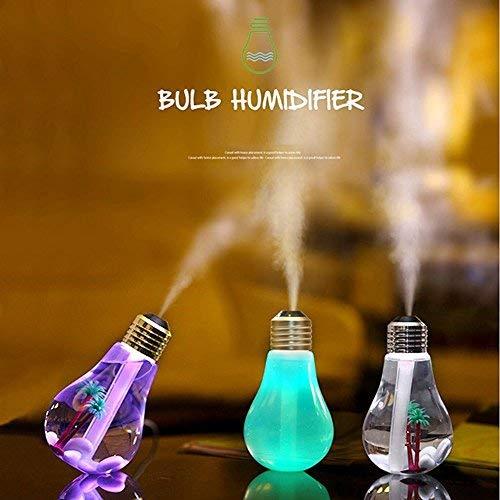 Humidificador Vsspeed 2016de 400ml, USB, 5V CC, luz nocturna de 7colores, ultrasónico, difusor de niebla, para dormitorio (color dorado)