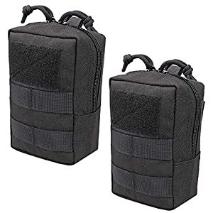 """51wmRyYhwgL. SS300  - JETEDC 4"""" Tactical Utility Molle Small Pouch with D-Ring Locking and Web Dominators (Plus Edition) (Black)"""