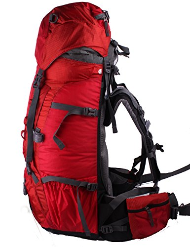 Belvie 1383 Wanderrucksäcke Trekkingrucksäcke 75l Rot