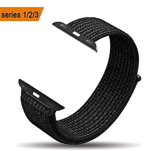 Bossy Apple Watch Armband 38mm 42mm, Klettverschluss und gewebtes Nylon Sport Ersatz Uhrenarmbänderfür Apple Watchh Series 1/2/3, Nike+, Sport, Edition