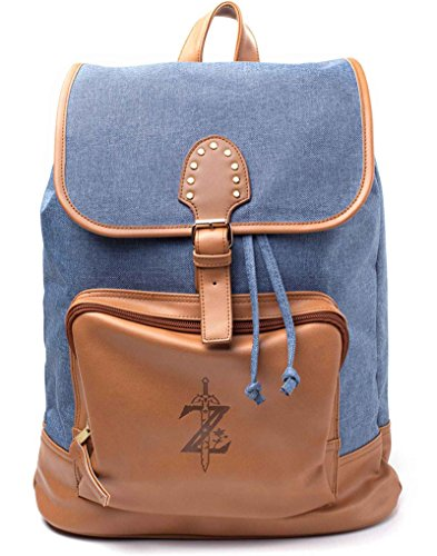 Zelda Backpack Game Logo Denim Nue offiziell Nintendo Blau -