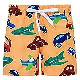 Funnycokid Baby Jungen Strand Shorts Sommer Schnelltrocknend Schwimmen Badeshorts Strand Urlaub Kinder Party Schwimmen Kurze Hose mit Netz