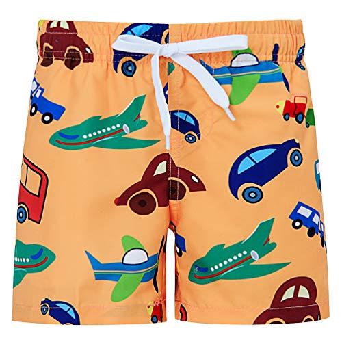 Funnycokid bambino pantaloncini bambini estate stampare cute car truck stampare nuotare pantaloncini bambini board short bottoms