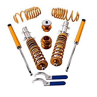 maXpeedingrods Coilovers Lowering Suspension Kits for Golf MK4 1998-2003, Jetta MK4 1998-2004, Audi A3 MK1 1996-2003, New Beetle 1997-2011 - Gold