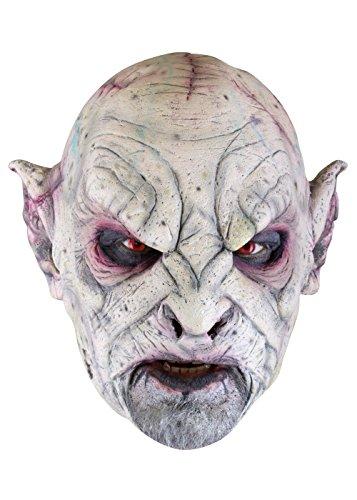 Orkmaske Herrenmaske Halloween LARP Cosplay Orkgesicht aus Latex (Kostüm Zähne Ork)