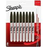 Sharpie–Juego de rotuladores permanentes, punta fina., color negro 8 unidades