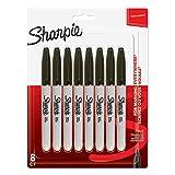 Sharpie–Juego de rotuladores permanentes, punta fina, color negro 8 unidades