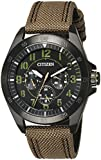 Citizen Herren-Armbanduhr XL Analog Quarz Textil BU2035-05E