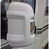 Milenco 4268 Protector para Retrovisor de Brazo Largo, Color Blanco (Juego de 2)