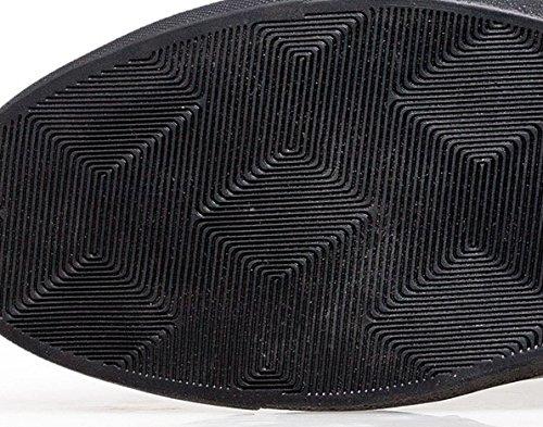 NSPX Scarpe casual di cuoio degli uomini di Scarpe casuali di autunno ed in inverno Casual Scarpe da ginnastica di grandi dimensioni 45 46 47 , 38 BLACK-41