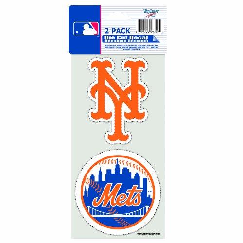 MLB 2-teilig gestanzt Aufkleber, 10,2x 20,3cm, official team colors.