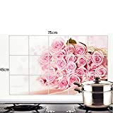 #8: HAPPY LIFESTYLE Kitchen Wall Cover Stickers Water Proof, Oil Proof and Hot Proof Aluminum Foil (designs vary as per stock availability)
