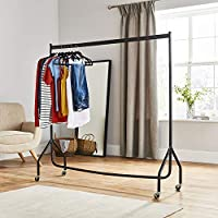 Superior Heavy Duty 5FT Long x 5FT Tall Clothes Rail In Black - NO TOOLS (Next day delivery available)
