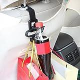 hkfv Universa comodidad útil, coche bebidas Storager titulares perchas multifunción perchas de coche asiento trasero reposacabezas Hanger gamuza de bolsa bolso de mano soporte gancho comestibles