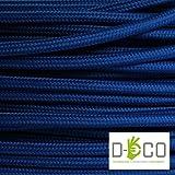 Cavo elettrico tondo rivestito in tessuto colorato per lampadari, lampade, abat jour. Il cavo elettrico diventa design! Scegli fra 30 colori. 5 Metri 2x0,75. Made in Italy! Blu