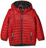 Regatta Boy's Kids Stormforce Jacket Regular Fit Plain Hooded Long Sleeve Jacket, Red (Classic Red), 9-10 Years