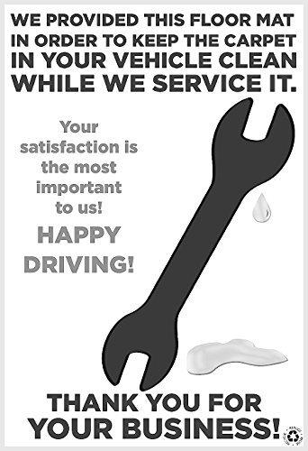 Dank für Ihre Business Schlüssel Öl Schwarz und Weiß Einweg Papier Bodenmatten kein Schmutz Foot Print für kommerzielle 1996