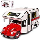 alles-meine GmbH VW Volkswagen Käfer Gelb Motorhome Wohnwagen Camping Limitiert 1 von 500 Stück 1/18 Schuco Modell Auto mit individiuellem Wunschkennzeichen