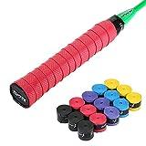 (Schwarz, Blau, Violett, Gelb, Rot) PU Weich, absorbiert Feuchtigkeit und Rutschfester Griff für Tennisschläger und Badmintonschläger