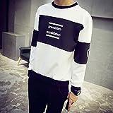 Spritech (TM) Invierno Moda Hombre comodidad de espacio sudadera de algodón cuello redondo jersey sudadera, Blanco, xx-large