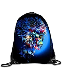 gthytjhv Mochila con cordón Rucksack Shoulder Bags Gym Bag Travel Backpack Broken Ball Cool Skull22 Lightweight