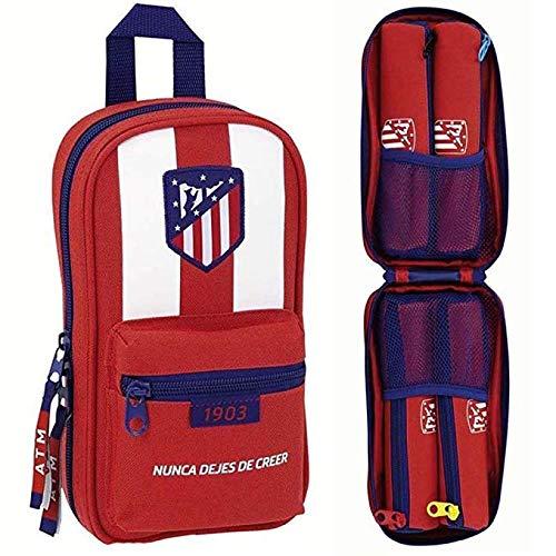 Safta Neceser Con 4 Estuches Atlético De Madrid Oficial 120x50x230mm
