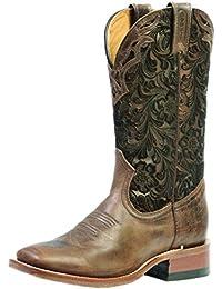Botas de los EE.UU.-Botas, botas de cowboy BO-1063-65-C (pie normal), diseño de mujer, color marrón