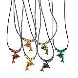 6 x Delfin Halskette Kette Mitgebsel Kindergeburtstag Party Gewinn Delfinparty Meerjungfrau Halsketten Ketten