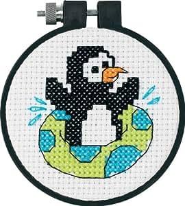 Dimensions Kit Point De Croix Compté, Pingouin