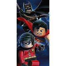 LEGO, toalla de baño de algodón, de playa, diseño de Superhéroes DC Superman, Batman, Robin